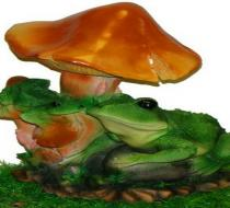 Две лягушки под грибом
