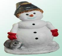 Снеговик с ведерком