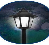 Садовый солнечный фонарь 2